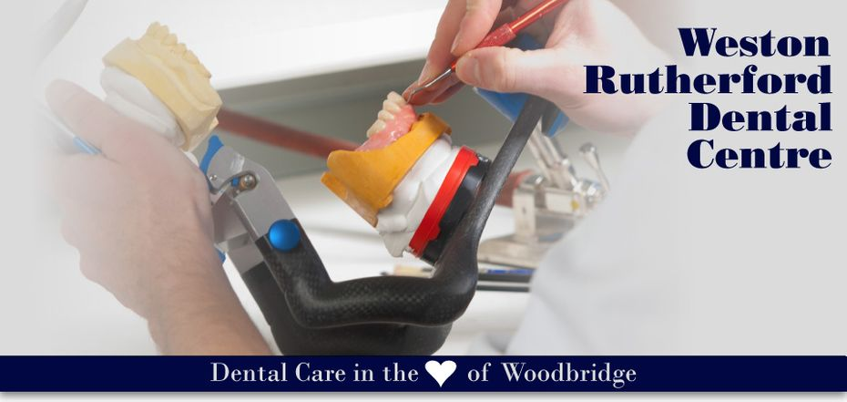 working on dentures - Dental Care in the Heart of Woodbridge
